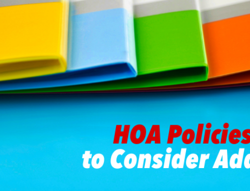 Policies the HOA Board Should Consider
